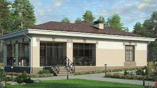 Проект бани с комнатой отдыха и террасой | Строительство бани из пеноблока. Ремстройсервис - М-277