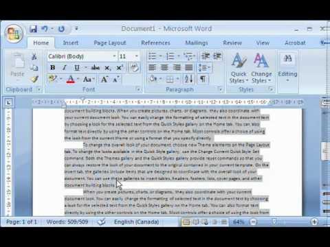 how to use microsoft word 2007