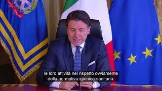 Palazzo chigi, 11/03/2020 - le dichiarazioni del presidente consiglio, giuseppe conte, sulle nuove misure adottate con dpcm per contrastare e ...