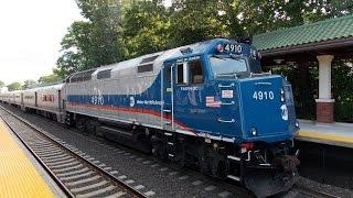 New Jersey Transit HD: Railfanning Ridgewood Station 7/11/14 (ALP-45DP, PL42AC, F40PH-3C, GP40PH-2)
