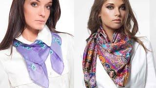 Как красиво завязывать платки, шарфы, шали и палантины