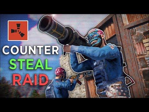 STEALING THE ENEMIES RAID...   Rust Duo...