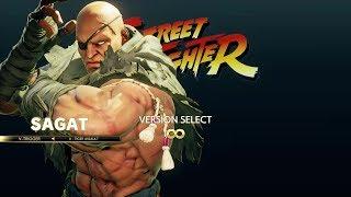 Street Fighter 5 Arcade Edition - Sagat Arcade Mode Playthrough
