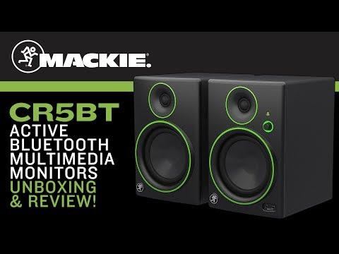 Mackie CR5BT Multimedia Bluetooth Speaker Monitors Unboxing & Review!