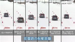 走れても止まれない、雪道のノーマルタイヤ【JAFユーザーテスト】
