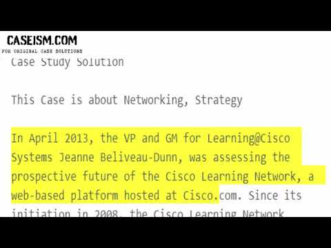 Social Strategy at Cisco Systems Case Study Help - Caseism.com