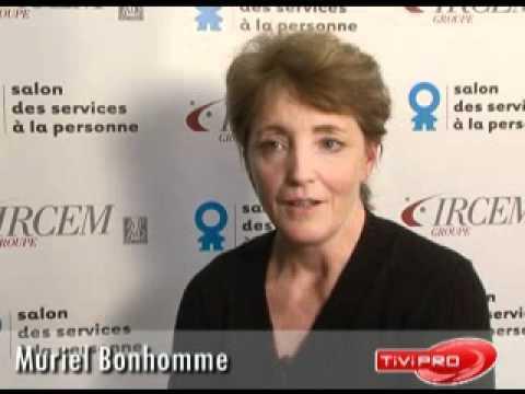 Muriel bonhomme o2 au salon des services la personne for Salon service a la personne
