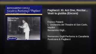 Pagliacci XI Act One Recitar Vesti la giubba Encore