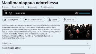 Ruben Stiller - Maailmanloppua odotellessa (vieraana Juha Ahvio)