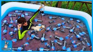초특급! 대형 슬러시 콜라 수영장 만들다 ♡ 여름 특집 청량감 멘토스 폭발 분수 Giant Slush Cola Swimming Pool | 말이야와친구들 MariAndFriends