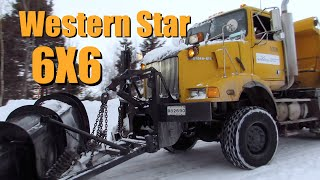 6X6 Western Star Plowing Deep Snow