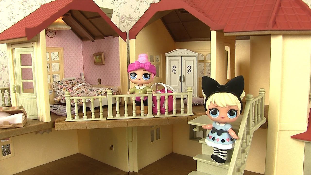 Poup es lol maison chambre de poup e sylvanian families house with lights youtube - La grande recre maison de jardin ...