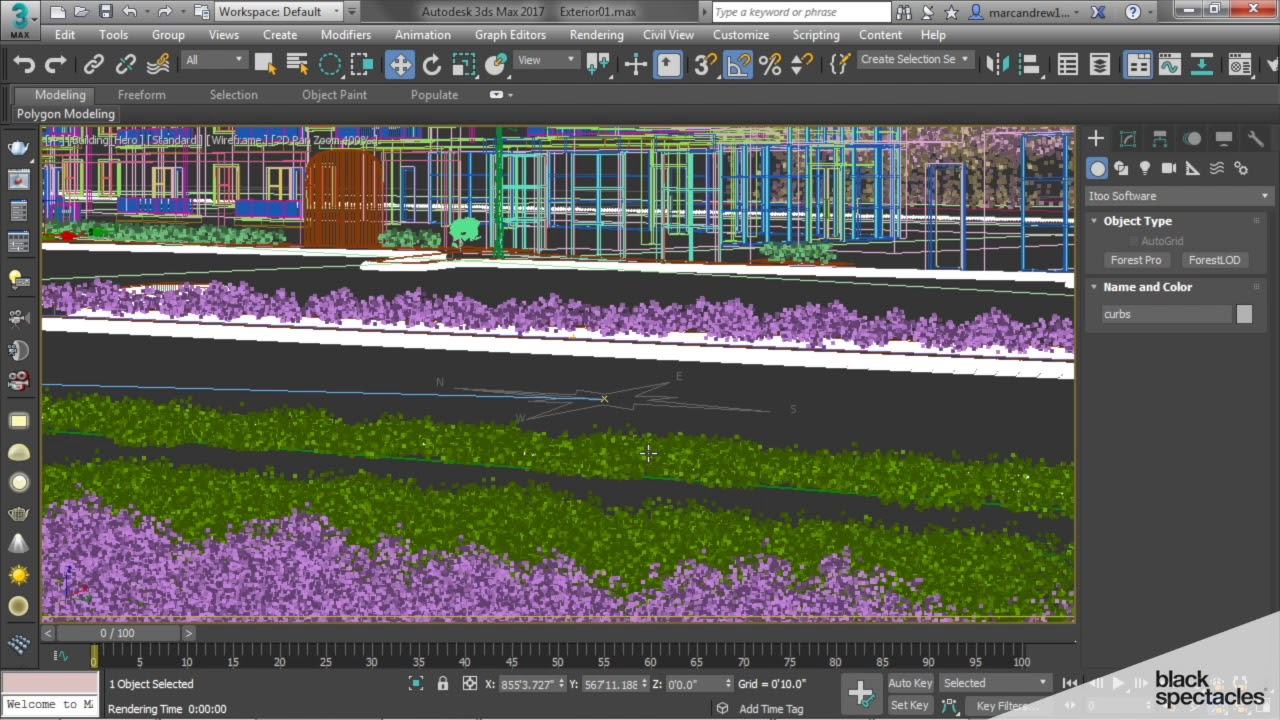 Using Forest Pack Pro to Create Grass - Exterior Renderings in 3ds Max