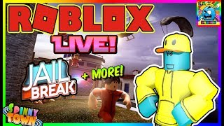 Roblox #96 | PLAYING JAILBREAK WITH VIEWERS + MORE! | LIVE | (sjk livestreams #319)