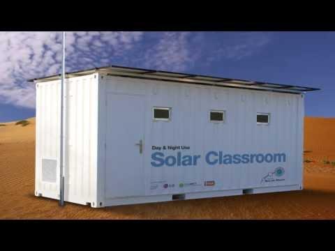 Solar Ready Ltd -- Solar powered Intel class room  for Africa (SR e Cabin15)