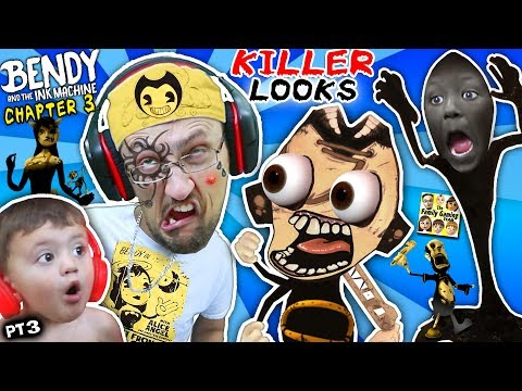 UGLY FACE WEAPON vs BENDY & THE INK MACHINE Chapter 3! FGTEEV gets Tattoo & Shawn Cries (Part 3)