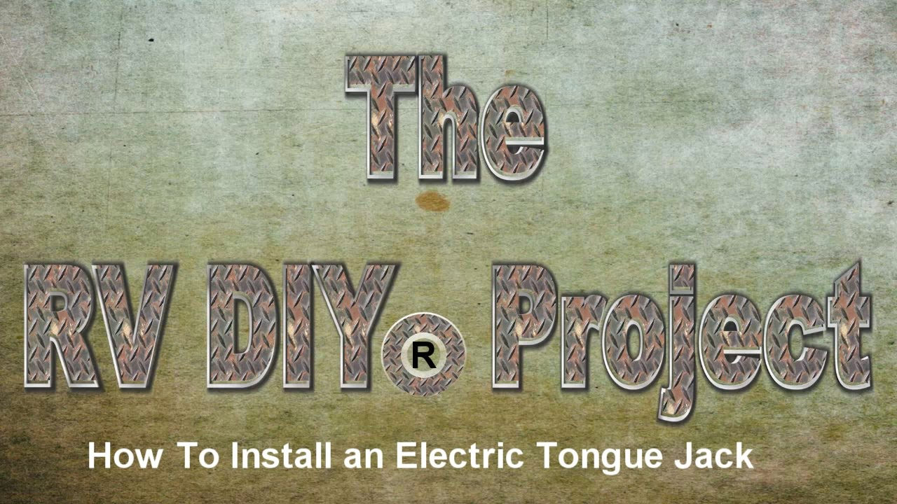 how to install an electric tongue jack