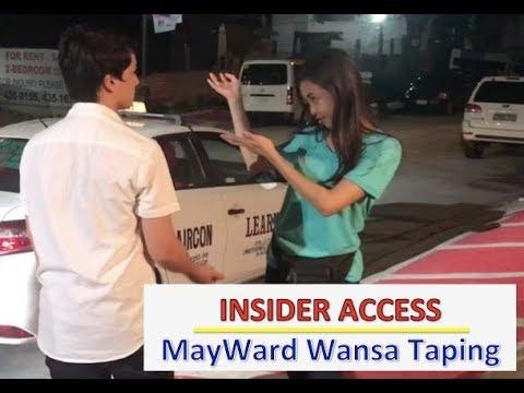 Insider Access:  MayWard Wansa Taping