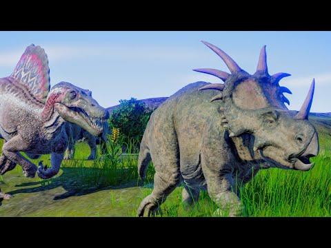 Spinosaurus & Suchomimus Hunting In Wetland Environment - Jurassic World Evolution |