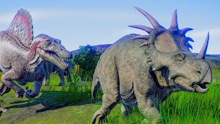 Spinosaurus & Suchomimus Hunting In Wetland Environment - Jurassic World Evolution