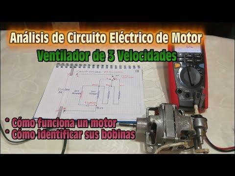 Analisis de Circuito Electrico de Motor - Ventilador de 3 Velocidades - Como identificar bobinas
