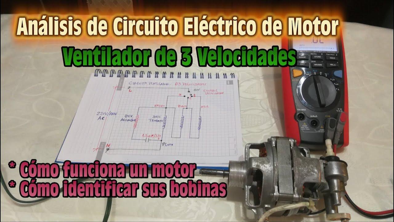 Ventilador 3 velocidades 5 cables