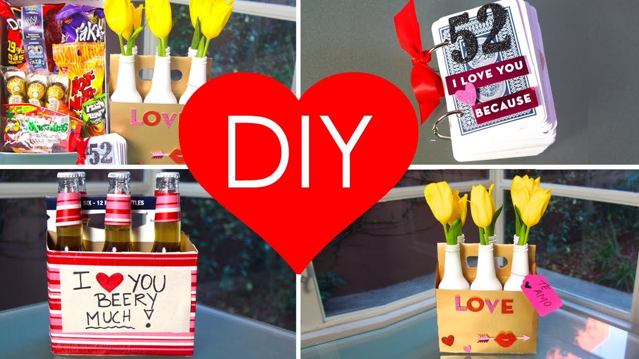 Diy 4 Regalos Originales Y Faciles Para San Valetin Youtube