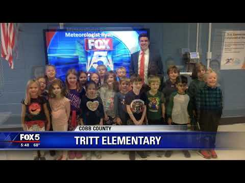 FOX 5's Ryan Beasley visits Tritt Elementary School