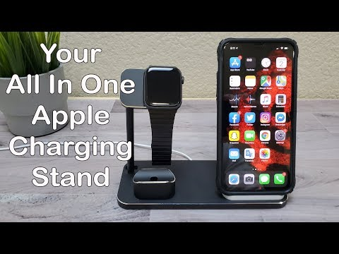Fast Wireless Charging Stand For Apple IPhone \ Watch & Airpods - Review