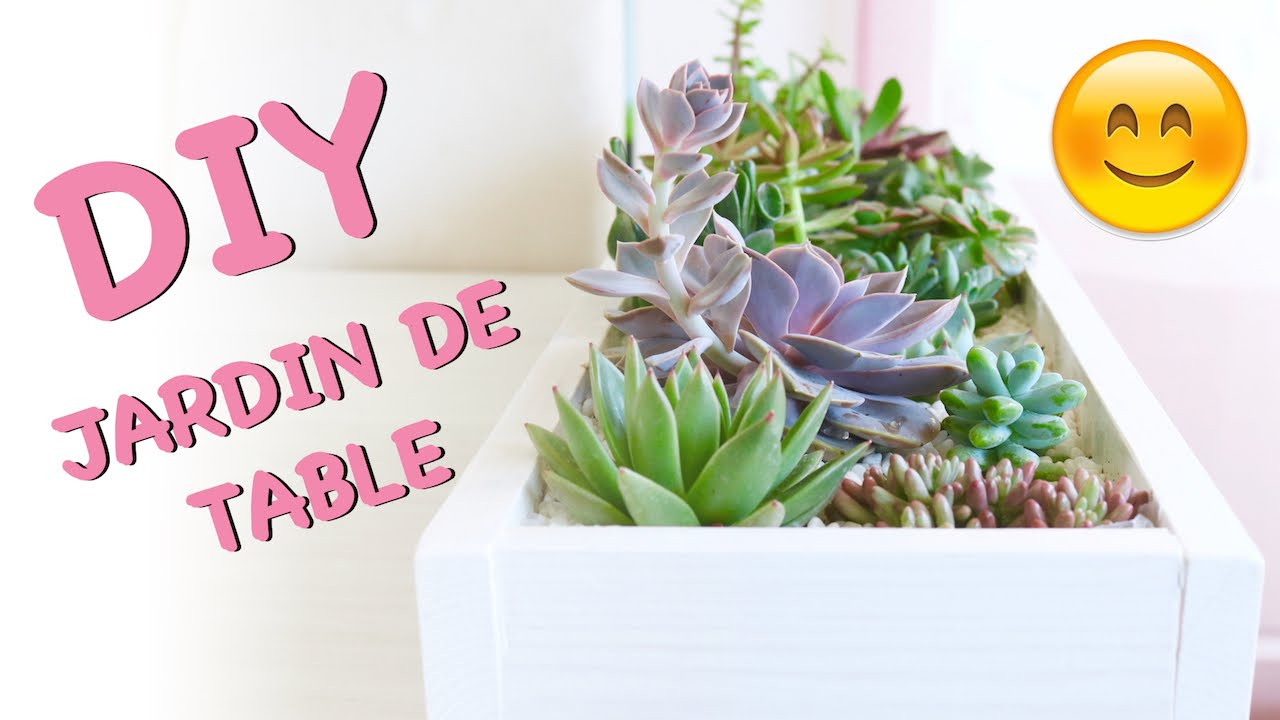 diy jardin de succulentes pour table d coration en arrangement de plantes grasses youtube. Black Bedroom Furniture Sets. Home Design Ideas