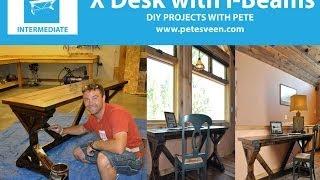 Download Video How to make a desk | Rustic Desk MP3 3GP MP4