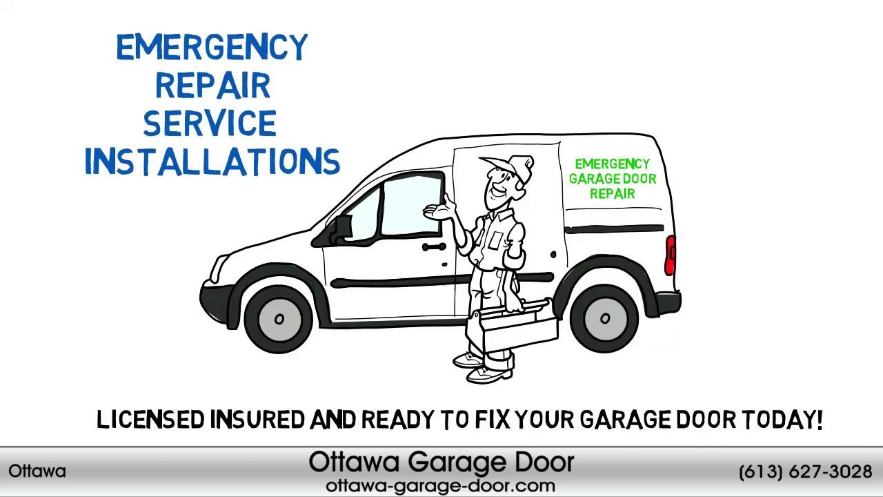 Ottawa Garage Door Repair 613 627 3028 Youtube