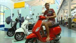 Blue Peter goes to Vespa factory - 06-09-2010