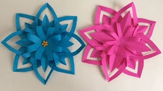 PAPER FLOWERS. PAPER HANDBOOKS. Paper flower. Preschool Crafts, Preschool Ideas.