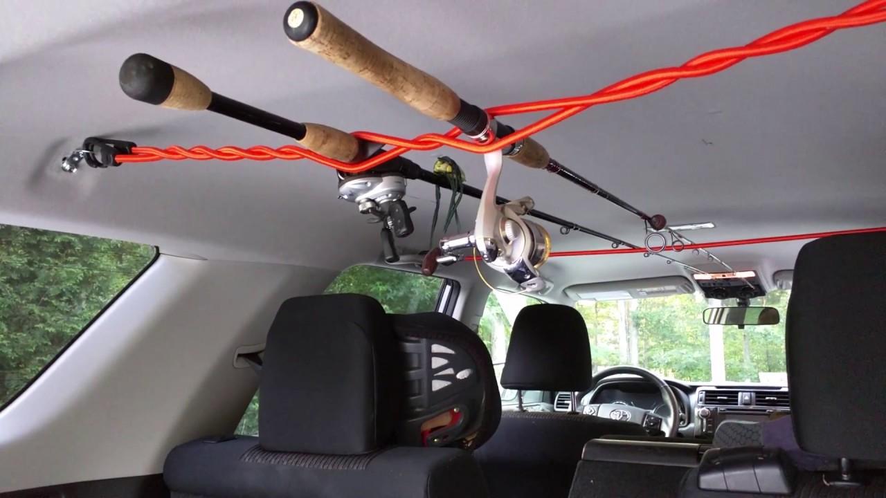 Diy Car Fishing Rod Rack For 9 Youtube