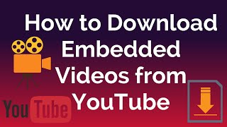 Download embedded video