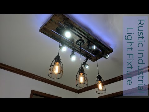 Rustic Industrial Light Fixture with 3d Printed parts