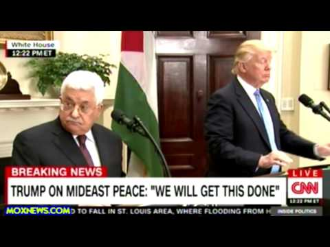 Palestinian President Mahmoud Abbas And President Trump Hold Joint Press Conference