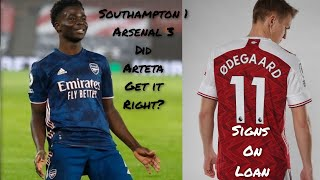 Odegaard signs on Loan & Match Reactions Southampton 1 Arsenal 3