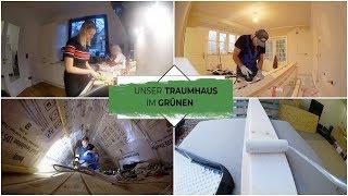 Doppel Vlog | Leonas Spitzboden | Latten streichen & Fenster reparieren | Isabeau