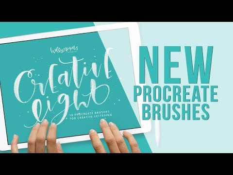 New Procreate Brushes Creative Light Procreate Brushes by