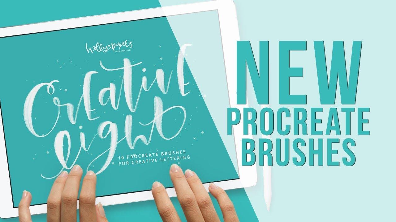 New Procreate Brushes Creative Light Procreate Brushes by Holly Pixels