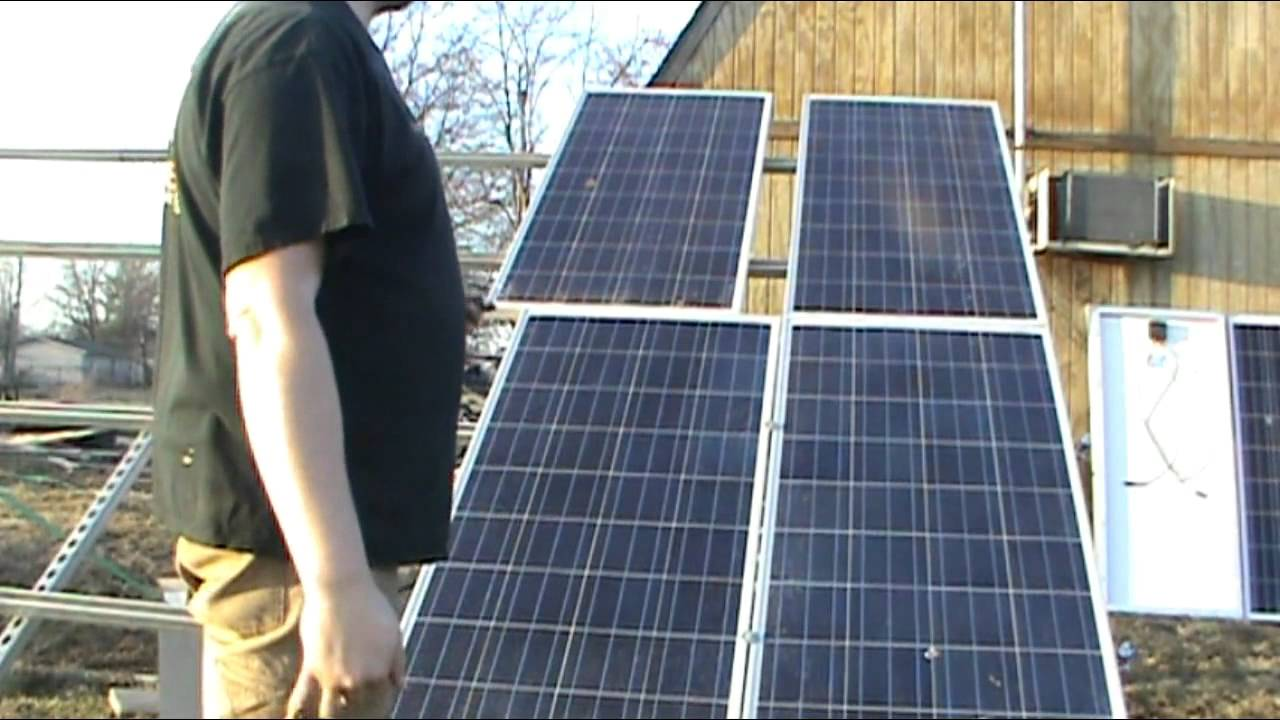 How To Install Solar Panels Using Unistrut Youtube