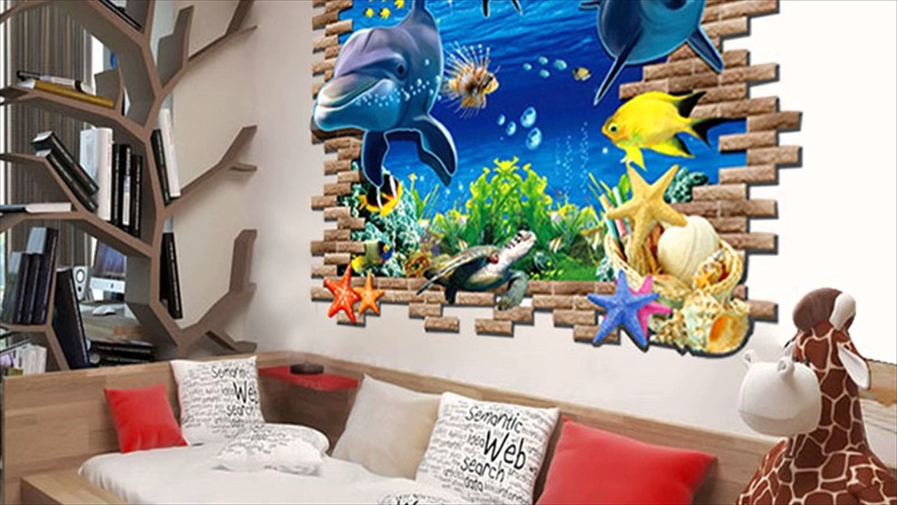 dolphins home removable wall sticker for kids room youtube dolphins home removable wall sticker for kids room