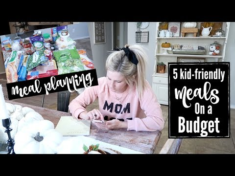 MEAL PLANNING ON A BUDGET   5 KID FRIENDLY MEALS   GROCERY HAUL