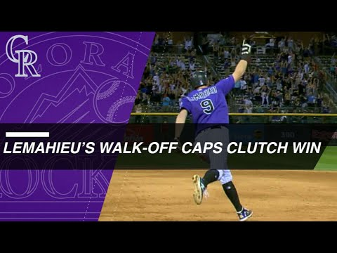 Rockies rally in 9th, walk off on LeMahieu HR