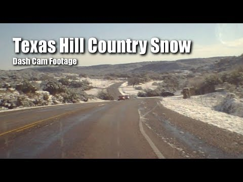 Dash Cam Footage Texas Hill Country In Snow. Dec 2017.