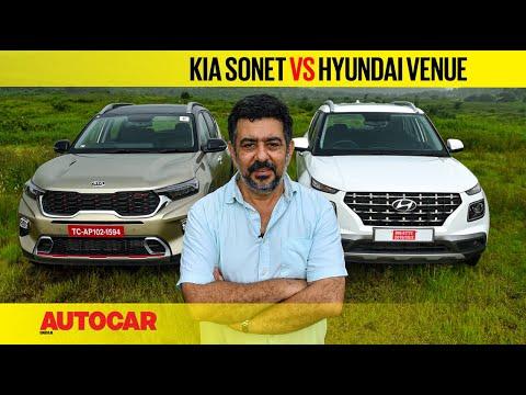 Kia Sonet vs Hyundai Venue – It's all relative   Comparison   Autocar India