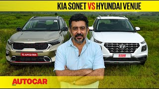 Kia Sonet vs Hyundai Venue - It's all relative | Comparison | Autocar India