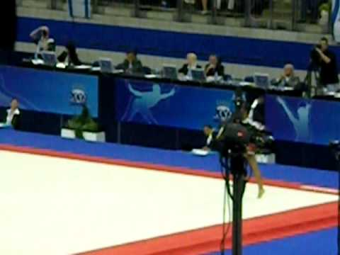 Kaisey Griffith Floor Routine at World's 2009